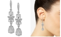 Givenchy Silver-Tone Crystal Double Drop Earrings