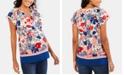 Motherhood Maternity Flutter-Sleeve Top