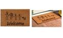 "Home & More Stick Family 24"" x 36"" Coir/Vinyl Doormat"