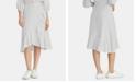 RACHEL Rachel Roy Esta Striped Ruffled Skirt