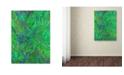 """Trademark Global MusicDreamerArt 'Green Labyrinth (1)' Canvas Art - 32"""" x 24"""" x 2"""""""