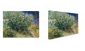 "Trademark Global Van Gogh 'Lilac Bush' Canvas Art - 19"" x 14"" x 2"""