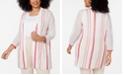 Alfani Plus Size Mix Stitch Cardigan, Created for Macy's
