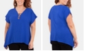 NY Collection Plus Size Embellished Handkerchief-Hem Top