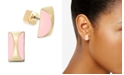 kate spade new york  Gold-Tone Curved Stone Stud Earrings