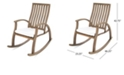 Noble House Cayo Outdoor Rocking Chair, Quick Ship