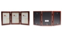"""Lawrence Frames Hinged Triple Walnut Wood Picture Frame - Gallery Collection - 4"""" x 6"""""""