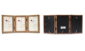 """Lawrence Frames 766046T Nutmeg Wood Hinged Triple Picture Frame - 4"""" x 6"""""""