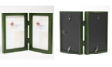 """Lawrence Frames Hinged Double Green Wood Picture Frame - Gallery Collection - 4"""" x 6"""""""