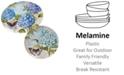 Certified International Hydrangea Garden Melamine 2-Pc. Platter Set - Round and Oval
