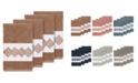 Linum Home Turkish Cotton Noah 4-Pc. Embellished Hand Towel Set