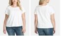 Jessica Simpson Trendy Plus Size Isabella Frayed T-Shirt