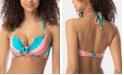 SUNDAZED Ava Printed Ruffled Bow Bikini Top, Created for Macy's