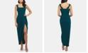 XSCAPE Petite Double-Strap Gown