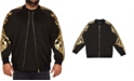 Mvp Collections By Mo Vaughn Productions MVP Collections Men's Big & Tall Gold Print Sleeve Bomber Jacket