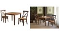 WHITEWOOD INDUSTRIES/INTNL CONCEPTS International Concepts 36X36 Dining Table With 2 X-Back Chairs