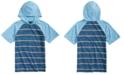 Univibe Big Boys Gariel Colorblocked Stripe Hooded Raglan-Sleeve T-Shirt