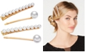 INC International Concepts INC 4-Pc. Gold-Tone Imitation Peal Hair Clip Set, Created for Macy's