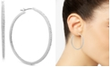 Lauren Ralph Lauren Silver-Tone Pavé In & Out Medium Hoop Earrings