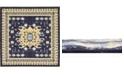 Bridgeport Home Charvi Chr1 Navy Blue 8' x 8' Square Area Rug