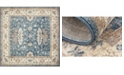 Bridgeport Home Bellmere Bel5 Light Blue 5' x 5' Square Area Rug