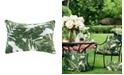 """Madison Park Everett 14"""" x 20"""" Printed Palm 3M Scotch Gard Outdoor Oblong Pillow"""