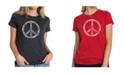 LA Pop Art Women's Premium Word Art T-Shirt - The Word Peace in 77 Languages