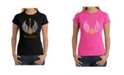 LA Pop Art Women's Word Art T-Shirt - Lyrics To Free Bird