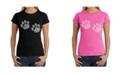 LA Pop Art Women's Word Art T-Shirt - Meow Cat Prints