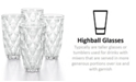 The Cellar CLOSEOUT! Clear Diamond Highball Glasses, Set of 4, Created for Macy's
