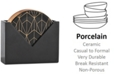 Hotel Collection Ceramic Coaster Set with Holder, Created for Macy's