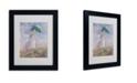 "Trademark Global Claude Monet 'Woman With a Parasol' Matted Framed Art - 14"" x 11"""