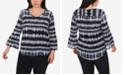 NY Collection Plus Size High-Low Printed Top
