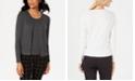 Charter Club Cardigan & Sleeveless Crewneck Sweater, Created for Macy's