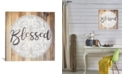 """iCanvas Blessed Ii by Front Porch Pickins Gallery-Wrapped Canvas Print - 12"""" x 12"""" x 0.75"""""""