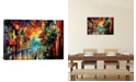 """iCanvas Misty City Mood by Leonid Afremov Gallery-Wrapped Canvas Print - 18"""" x 26"""" x 0.75"""""""
