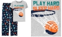 Carter's Little & Big Boys 2-Pc. Sleep Hard Pajama Set