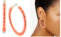 Zenzii Medium Beaded Hoop Earrings 2""