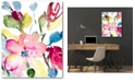 """Courtside Market Spring Flowers 16"""" x 20"""" Gallery-Wrapped Canvas Wall Art"""