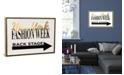 "iCanvas Fashion Week Ny Gold by Amanda Greenwood Gallery-Wrapped Canvas Print - 26"" x 40"" x 0.75"""