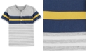 Carter's Toddler Boys Striped Cotton Henley T-Shirt