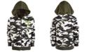 Puma North America Puma Big Boys Rebel Pack Camo-Print Zip-Up Hoodie