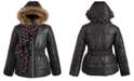 S Rothschild & CO Big Girls Hooded Jacket With Faux-Fur Trim & Scarf