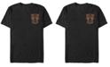Marvel Men's Black Panther Left Pocket Geometric Black Panther Short Sleeve T-Shirt