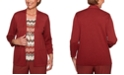Alfred Dunner Petite Cedar Canyon Layered-Look Pointelle Sweater