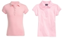 Nautica Big Girls School Uniform Ruffle Button Placket Polo