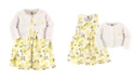 Hudson Baby Dress and Cardigan Set, Lemons, 2 Toddler