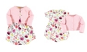 Touched by Nature Organic Cotton Dress and Cardigan Set, Botanical, 9-12 Months