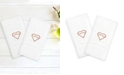 """Linum Home Denzi 2-Pack of Hand Towels Embroidered with """"I Love You"""""""