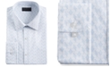 Alfani Men's Classic/Regular Fit Performance Stretch Abstract Cube Dress Shirt, Created for Macy's